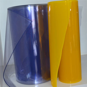 Plastic PVC Strip Curtain Sheet with Ribbed pictures & photos