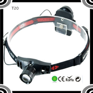 Popular XPE R5 LED 3*AAA Dry Battery LED Headlamp pictures & photos