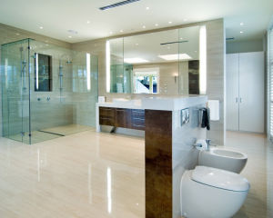 Frosted Laminated Tempered Glass Shower for Bathroom pictures & photos