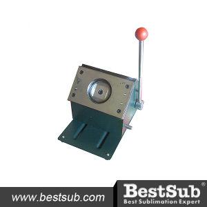 Bestsub 75mm Round Piece Cutting Badge Machine (QT75) pictures & photos