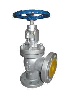 BS1873 Angle Globe Valve with Bolted Bonnet pictures & photos