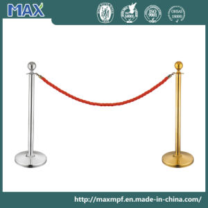 Stainless Steel Red Velvet Rope Stand Barrier Post for Event pictures & photos