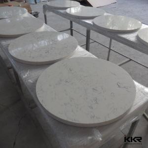 China No Scratch White Round Quartz Dining Table Top China