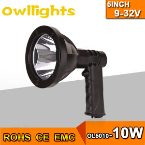 1000 Lumens Hunting 5inch 10W LED Handheld Light