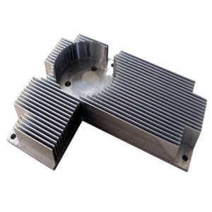 Clear Anodizing Special Shaped Hollow CNC Machining Aluminum Heat Sink