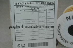 High Quality Paper Material Oil Filter 15208-2W200 for Nissan pictures & photos