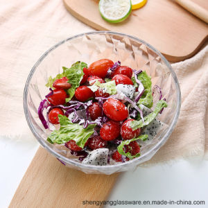 3PCS Food Grade Wholesale Diamond Glass Bowl Salad Glass Bowl Ice Cream Bowl pictures & photos
