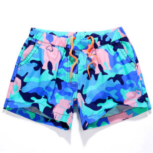 Womens Swim Shorts Swimming Surf Beach Shorts with Elastic Waist pictures & photos