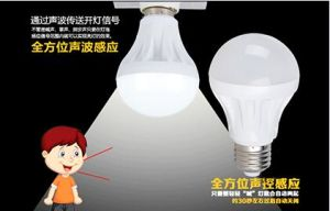 E11 Pure White 5W Sound&Light Controlled LED Bulb Light pictures & photos