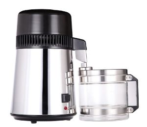 Stainless Steel 304 Pure Water Distiller with Glass Container pictures & photos