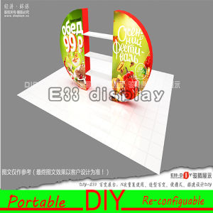 Custom Aluminum Frame Portable Reusable Exhibition Stand pictures & photos