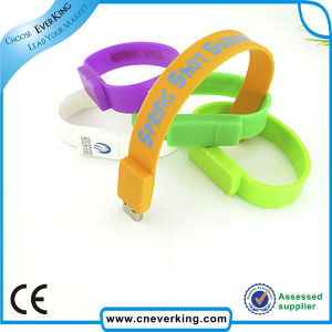 China Manufacture Protable Silicone Bracelet USB pictures & photos