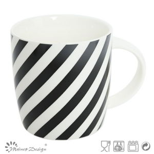 12oz Ceramic Mug with Decal Black Strip Design pictures & photos