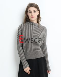 Women a/B Rib Flare Sleeves Short Pure Cashmere Knitwear pictures & photos