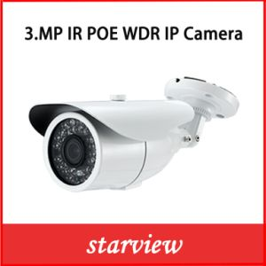 3.0MP WDR Poe IP Water-Proof IR Bullet Camera pictures & photos