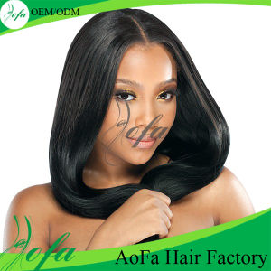 Black and Thick Virgin Human Indian Hair Extension pictures & photos