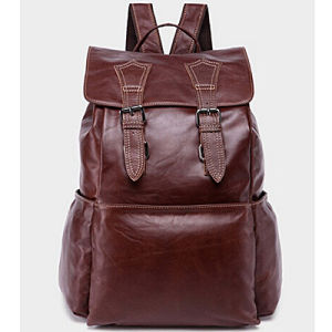 Hot Sale School Bag Man Backpack Leather Backpack (M3109) pictures & photos