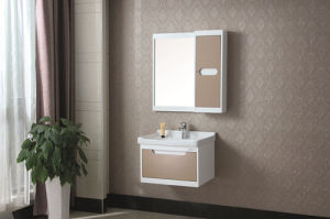 Modern Style Wall-Mounted Oak Bathroom Cabinet pictures & photos