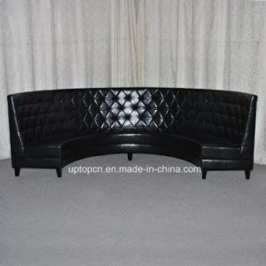 PU Leather Black Seating Booth for Party for Restaurant (SP-KS323) pictures & photos
