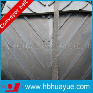 Quality Assured Black Special Pattern Shaped Rubber Conveyor Belt Cc Nn Ep 100-5400n/mm pictures & photos