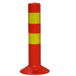 Orange PU Plastic Flexible Traffic Safety Spring Post pictures & photos
