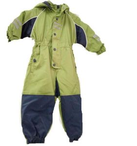 Hooded Padding Seam Taped Coverall Raincoat for Children pictures & photos