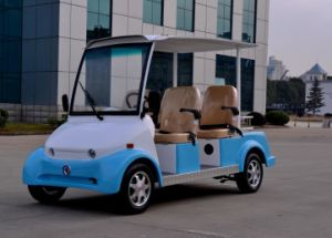 Cheap Price 4 Seater Electric Sightseeing Car Made by Dongfeng Motor