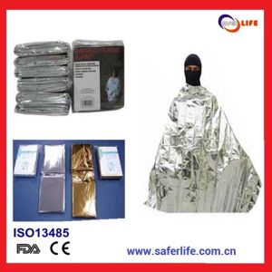 2015 Survival Aluminized Non-Stretch Polyester Keep Warm Heat Back First Aid Emergency Thermal Blanket pictures & photos