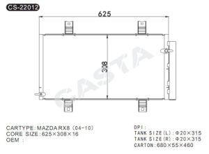 Aluminum Condenser for Mazda Rx8 (04-10) pictures & photos