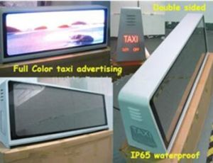 Waterproof Double Sided Taxi LED Panel Full Color Video Display Sign P5mm pictures & photos