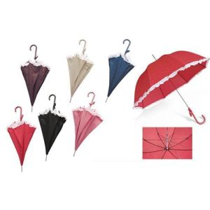 23′′ Lady′s Umbrella with Decorative Border (BR-ST-148) pictures & photos