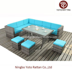 Steel Table Corner Sofa Set (903 blue) pictures & photos