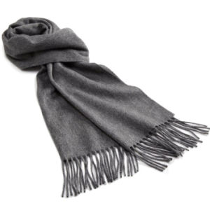 Fashion Cashmere Wool Knitted Fringe Scarf (YKY4333-3) pictures & photos