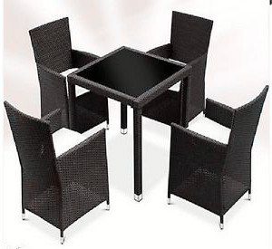 5PCS Rattan Garden Dining Furniture Set pictures & photos