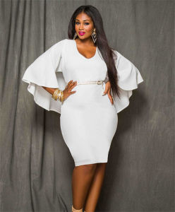 Plus Size Party Dress With Sleeves - Ocodea.com