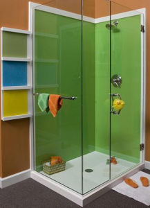 Glass Counter Tops, Back-Painted Glass Walls, Kitchen & Bath Splashbacks pictures & photos