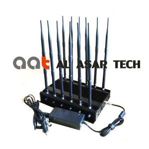 World First 12 Antennas All-in-One Full Bands Cell Phone Signal Jammer Blocking RF Signal 315/433/868 (Remote Control) GPS/WiFi pictures & photos