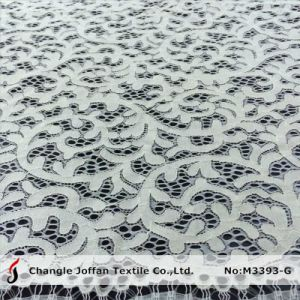 Cotton Fabric Ivory Bridal Lace Wholesale (M3393-G) pictures & photos