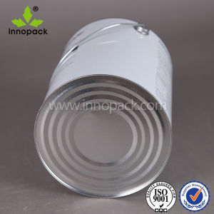 5L Empty Round Metal Tin Can with Wire Handle and Screw Cap for Paint Packing pictures & photos