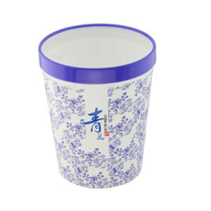 Blue and White Porcelain Plastic Printing Waste Garbage Bin (FF-5211)