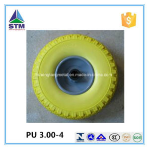 Manufacturer Polyurethane Flat Free Wheel 10 Inch 260 X 85 PU Tire pictures & photos