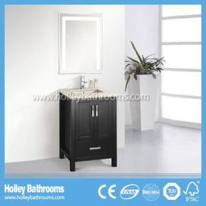 Hot Selling Classic Solid Wood Modern Bathroom Vanity with Metal Feet (BV175W) pictures & photos