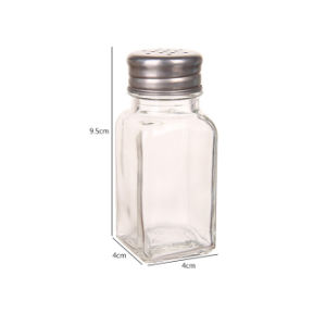 Free Sample Salt Shaker/ Glass Spice Jar/Spice Bottle with Metal Lid for Kitchenware pictures & photos