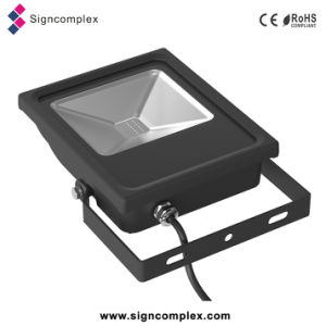 16 Colors Dimmable Waterproof 10W RGB LED Flood Light with Ce RoHS 3 Warranty Years pictures & photos