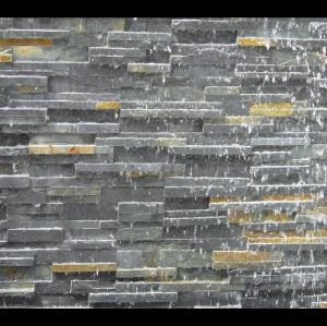Black Waterfall Stacked Veneer/Ledgestone/Cultured Slate Wall Tile pictures & photos