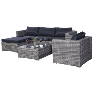 6 PCS Outdoor Wicker Patio Furniture Set pictures & photos