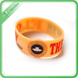 Promotion Gift Silicone Rubber Wristband, Embossed Logo pictures & photos