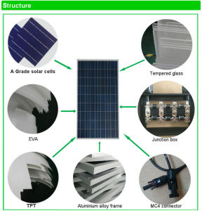 High Efficiency Poly Solar Panel 150W Made in China pictures & photos