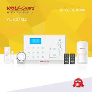 433MHz and 868MHz GSM +PSTN Alarm System with Blue Lighting LCD Display and Touchkeypad pictures & photos