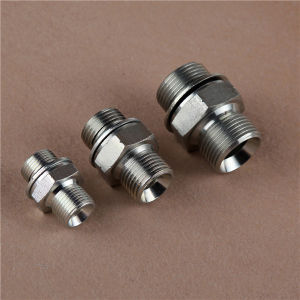 Metric Male 74 Cone/Metric Male with Bonded Seal Hydraulic Adapter pictures & photos